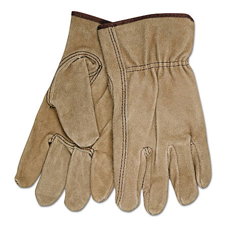Memphis Glove Premium-Grade Cowhide Leather Driving Gloves, Keystone Thumb, Medium, Pack Of 12