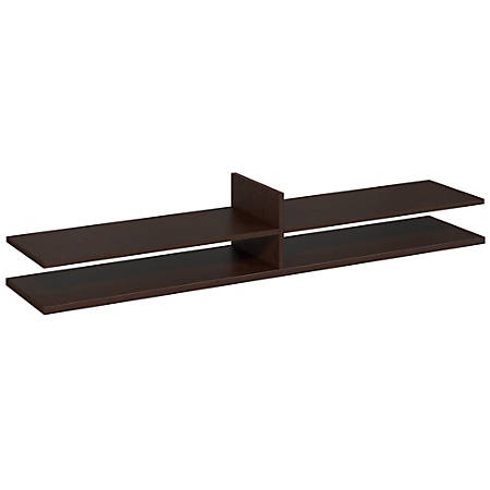 "Bush Business Furniture Components Elite Standing Table Desk Shelf Kit, 72""W x 12 1/2""D, Mocha Cherry, Standard Delivery Services"