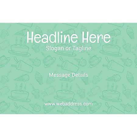 Custom Poster, Birthday Eatables, Horizontal