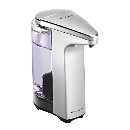 simplehuman Compact Sensor Pump For Soap, Lotion Or Sanitizer, 8 fl. oz., Brushed Nickel