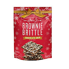 Brownie Brittle Chocolate Chip Holiday Drizzle