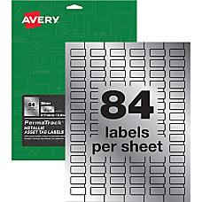 Avery PermaTrackTM Metallic Asset Tag Labels