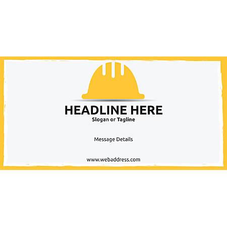 Custom Horizontal Banner, Hardhat