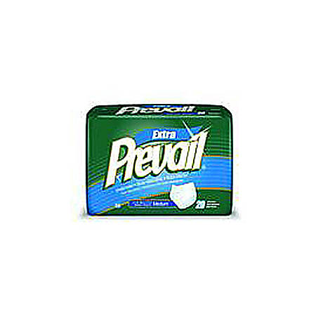 """Prevail® Protective Underwear — Adjustable, Extra And Super Plus, 20""""-34"""", Youth/Small, Pack Of 22"""