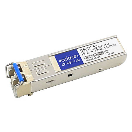 AddOn IBM 21R9937 Compatible TAA Compliant 4Gbs Fibre Channel LW SFP Transceiver (SMF, 1310nm, 10km, LC, DOM)