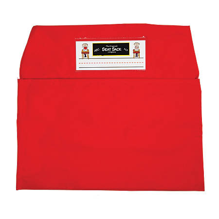 """Seat Sack™ Large Bags, 17"""", Red, Grades 3-5, Pack Of 2"""