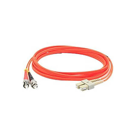 AddOn 20m SC (Male) to ST (Male) Orange OM1 Duplex Fiber OFNR (Riser-Rated) Patch Cable