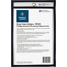 Business Source Clear Heavyweight Shop Ticket