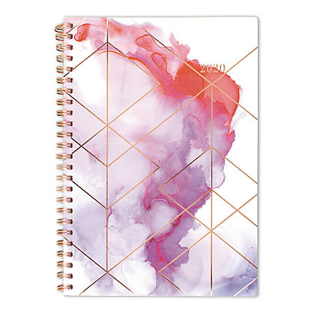 """Cambridge Smoke Screen Weekly/Monthly Planner, 5-1/2"""" x 8-1/2"""", Multicolor, January to December 2020"""