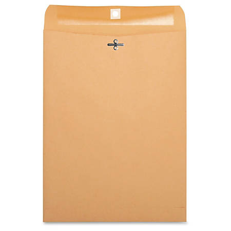 "Business Source Heavy-duty Clasp Envelopes - Clasp - #90 - 9"" Width x 12"" Length - 28 lb - Clasp - Kraft - 100 / Box - Kraft"