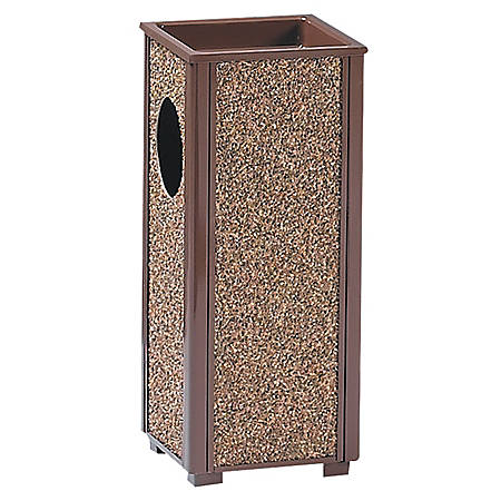 """United Receptacle 30% Recycled Sand Urn Litter Receptacle, 2.5 Gallons, 24"""" x 10"""" x 10"""", Brown"""