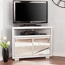 Southern Enterprises Mirage Mirrored Corner TV