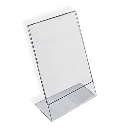 """Azar Displays Acrylic L-Shaped Sign Holders, 12"""" x 9"""", Clear, Pack Of 10"""