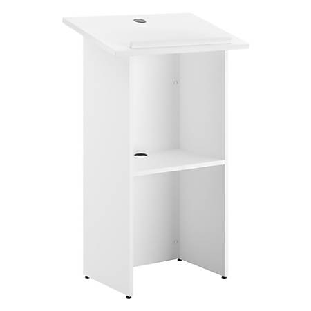 """Bush Business Furniture Lectern, 48"""" x 24"""", White, Standard Delivery"""