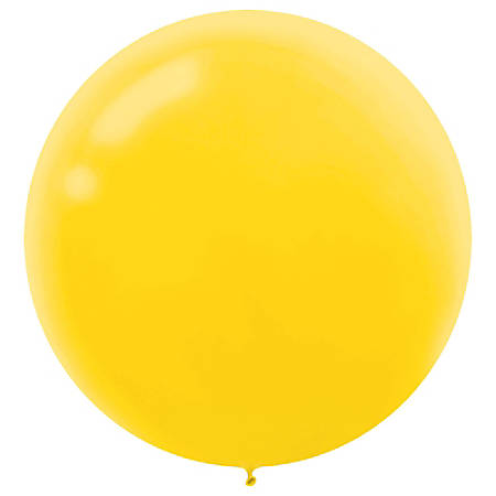 "Amscan 24"" Latex Balloons, Yellow Sunshine, 4 Balloons Per Pack, Set Of 3 Packs"