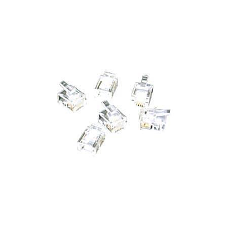C2G RJ11 6x4 Modular Plug for Flat Stranded Cable - 100pk