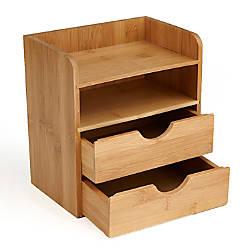 Mind Reader 4 Tier Bamboo Desk