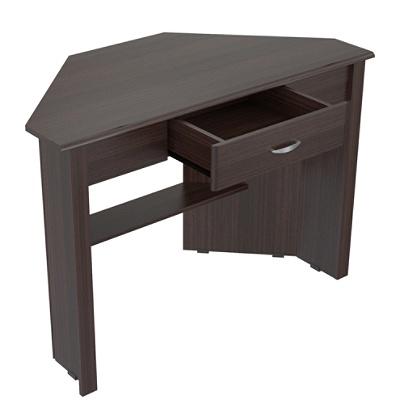 Inval Escapade Contemporary Corner Writing Desk Espresso By Office Depot Officemax
