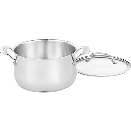 Cuisinart 5 Qt. Dutch Oven w/cover - 5 quart Dutch Oven, Lid - Aluminum Base, Stainless Steel, Glass Lid - Dishwasher Safe - Oven Safe