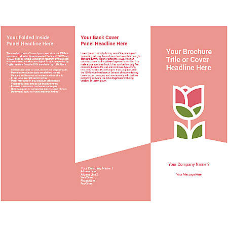 Customizable Trifold Brochure, Pink Rose