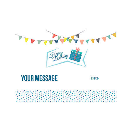 Flat Photo Greeting Card, Birthday Gift, Horizontal