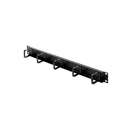 """Belkin Single-Sided Cable Manager - Black - 1U Rack Height - 19"""" Panel Width"""