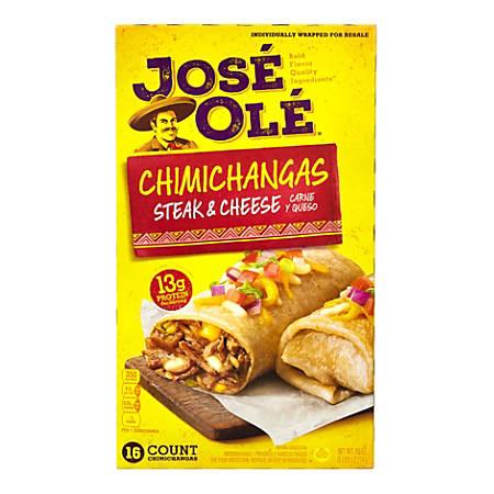 Jose Ole Steak & Cheese Chimichangas, 80 Oz, Box Of 16 Chimichangas