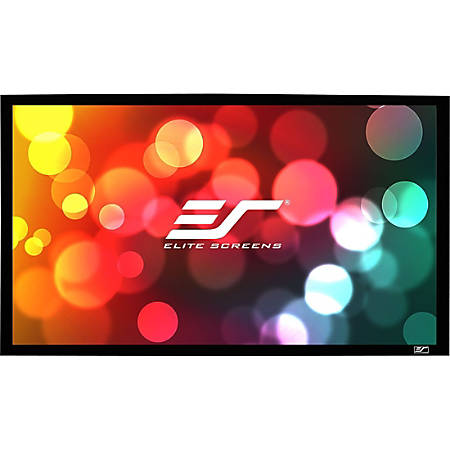 Elite Screens Sable Frame - 135-inch Diagonal 16:9, 8K 4K Ultra HD Ready Ceiling Light Rejecting and Ambient Light Rejecting Fixed Frame Projector Screen, CineGrey 3D? Projection Material, ER135DHD3""