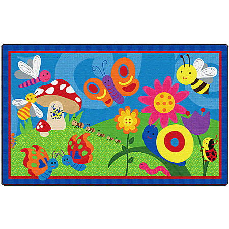 Flagship Carpets Cutie Bugs Rug, Rectangle, 3' x 5', Multicolor
