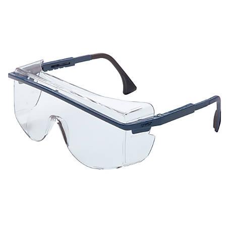 Astrospec OTG 3001 Eyewear, Clear Lens, Polycarbonate, Ultra-dura, Blue Frame