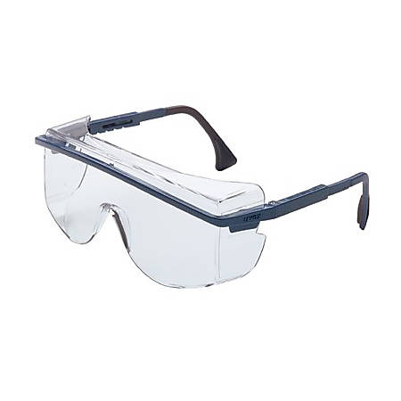 UVEX ASTRO OTG 3001 SAFETY SPECTACLE BLUE FRAME