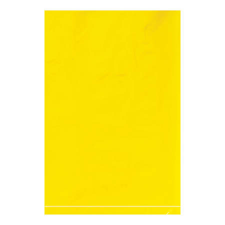 """Office Depot® Brand Flat 2-Mil Poly Bags, 6"""" x 9"""", Yellow, Case Of 1,000"""