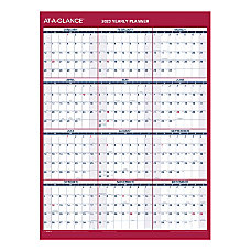 AT A GLANCE Yearly Reversible Erasable