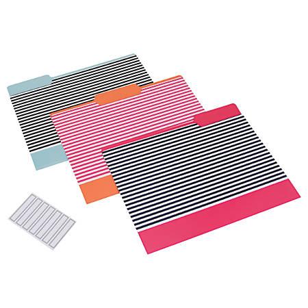 See Jane Work® File Folders, Letter Size, Stripe