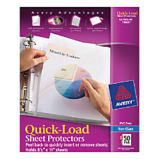 Avery Quick Load Nonstick Sheet Protectors