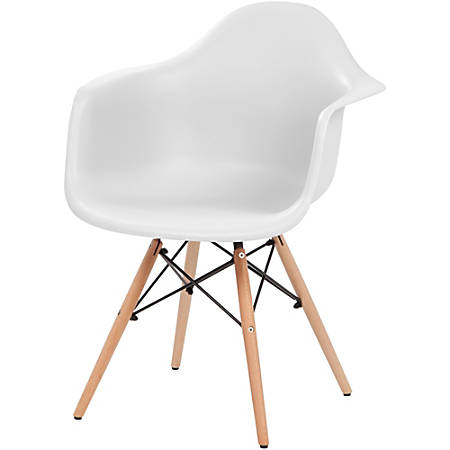 Iris® Classic Shell Chair with Armrests, White