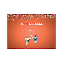 Flat Photo Greeting Card Champagne Flutes
