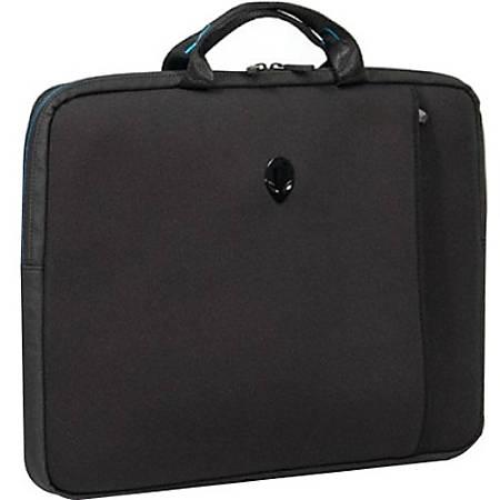 "Mobile Edge Alienware Vindicator Carrying Case (Sleeve) for 17.3"" Notebook - Teal, Black - Slip Resistant Base, Scrape Resistant, Scratch Resistant - Nylon Handle, Neoprene, Lycra Body - Handle - 13"" Height x 17"" Width x 2"" Depth"