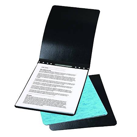 "ACCO® Presstex® Top-Bound Report Binder, 4-1/4"" CC, 8-1/2"" x 14"", 60% Recycled, Black"