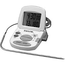 Taylor Digital Cooking ThermometerTimer Alarm Programmable