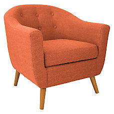 Lumisource Accent Chair Rockwell OrangeBrown