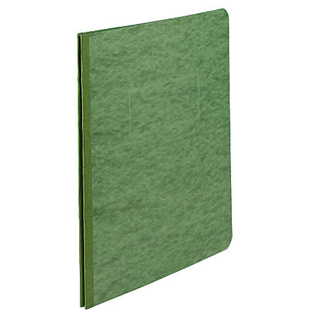 """ACCO® Pressboard Report Cover With Fastener, Side Bound, 8 1/2"""" x 11"""", 60% Recycled, Dark Green"""