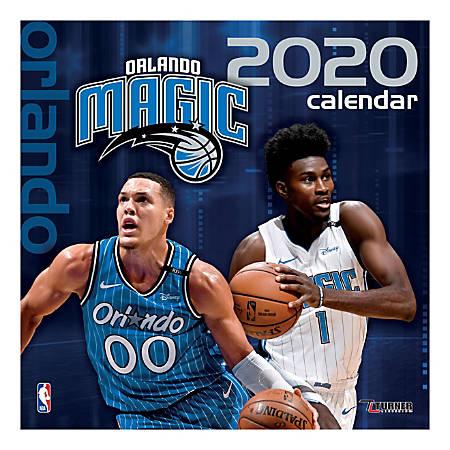 "Turner Licensing Monthly Wall Calendar, 12"" x 12"", Orlando Magic, 2020"