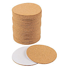 Self Adhesive Cork Circle 50 Pack