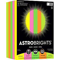 Astrobrights Color Paper Neon 5 Color