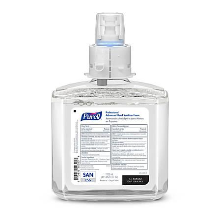 Purell® Professional Advanced Unscented Foam Hand Sanitizer Refill, ES6, 40.58 Oz