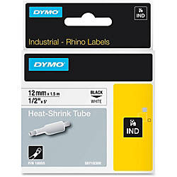 Dymo White Heat Shrink Tube 1532