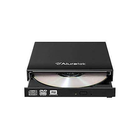 Aluratek AEOD100F 8x DVD - Double-layer - DVD-RAM/±R/±RW - 8x 8x (DVD) - 24x 24x (CD) - USB - External
