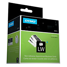 DYMO LabelWriter 30374 BusinessAppointment Cards White