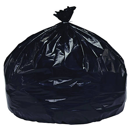 """SKILCRAFT® Low Density 1.5-mil Trash Liners, 60 Gallons, 38"""" x 58"""", 90% Recycled, Black, Pack Of 20 (AbilityOne 8105-01-517-3668)"""